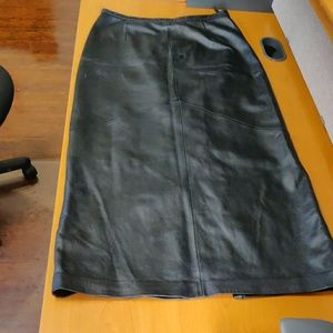 Womens Leather Skirt